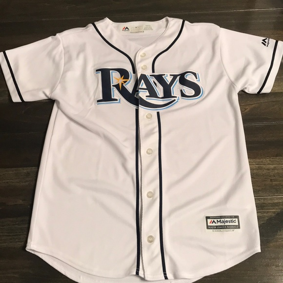 super popular a3aca 19cbc Boys White Tampa Bay Rays Jersey